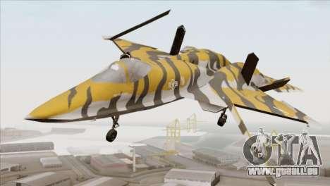 YF-23 Black Widow II Tigermeet für GTA San Andreas rechten Ansicht