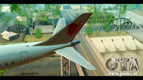 Embraer 190 Lion Air pour GTA San Andreas sur la vue arrière gauche