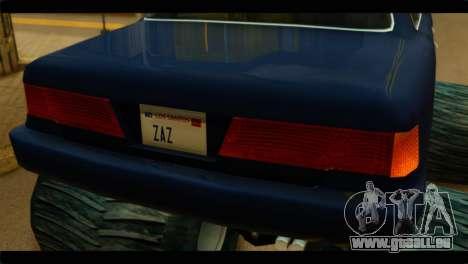 Monster Merit pour GTA San Andreas sur la vue arrière gauche