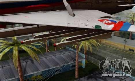 MIG-21MF Slovak Air Force SLP für GTA San Andreas rechten Ansicht