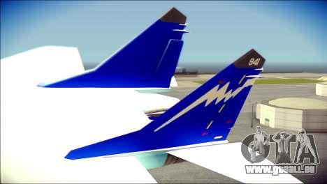 Mikoyan-Gurevich MIG-29K für GTA San Andreas zurück linke Ansicht