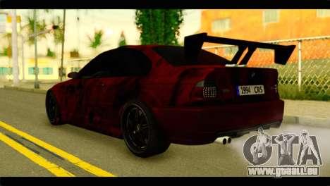 BMW 330 Tuning Red Dragon für GTA San Andreas linke Ansicht