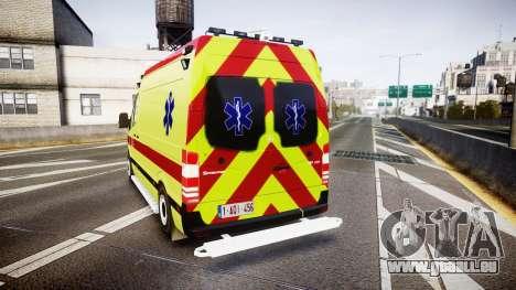 Mercedes-Benz Sprinter 311 cdi Belgian Ambulance pour GTA 4 Vue arrière de la gauche