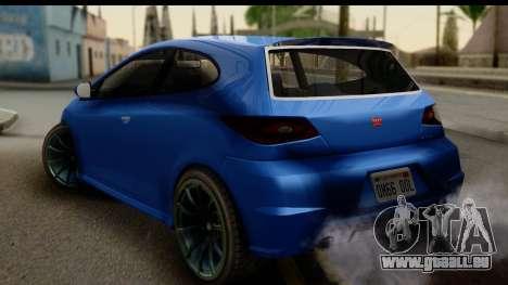 GTA 5 Dinka Blista für GTA San Andreas linke Ansicht
