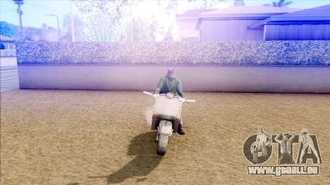 Piaggio Vespa pour GTA San Andreas sur la vue arrière gauche