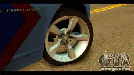 Chevrolet Camaro Indonesia Police für GTA San Andreas zurück linke Ansicht