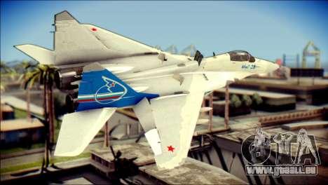 MIG-29 Fulcrum Reskin pour GTA San Andreas laissé vue