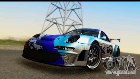 Porsche 911 GT3 RSR 2007 Flying Lizard für GTA San Andreas zurück linke Ansicht