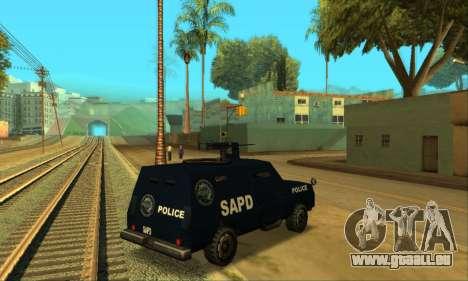 Beta FBI Truck für GTA San Andreas zurück linke Ansicht