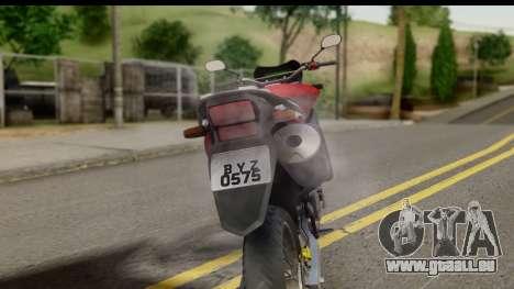 Honda XRE 300 v2.0 pour GTA San Andreas vue arrière