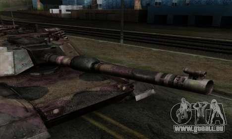 M1A2 Abrams Autumn Camo pour GTA San Andreas sur la vue arrière gauche