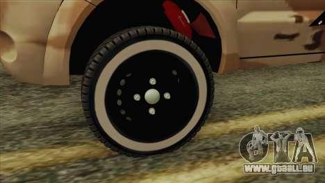 Toyota Hilux Siria Rebels pour GTA San Andreas sur la vue arrière gauche