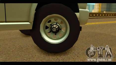 Aro 243 D pour GTA San Andreas sur la vue arrière gauche