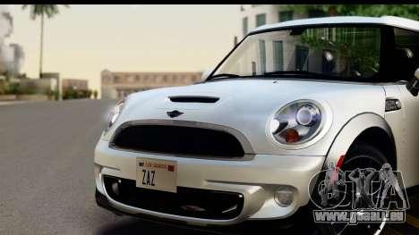 Mini Cooper Clubman 2011 für GTA San Andreas zurück linke Ansicht