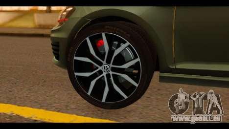 Volkswagen Golf Mk7 2014 pour GTA San Andreas sur la vue arrière gauche