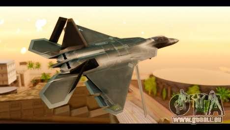 F-22 Raptor Flash für GTA San Andreas linke Ansicht