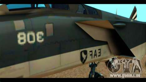 MIG-31 Pirat Squadron für GTA San Andreas Rückansicht