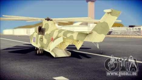 Mi-26 Halo pour GTA San Andreas laissé vue