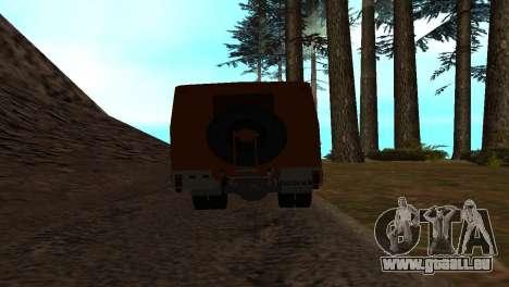 Roman Bus Edition für GTA San Andreas Rückansicht