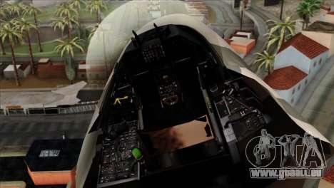 F-16C Top Gun für GTA San Andreas Rückansicht