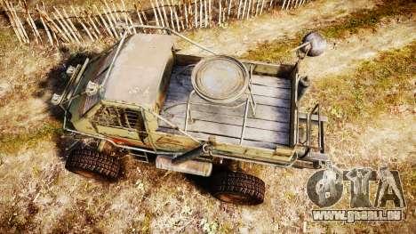 Militärische gepanzerten LKW für GTA 4 rechte Ansicht