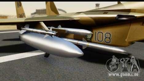 F-15C Eagle Desert Aggressor pour GTA San Andreas vue de droite