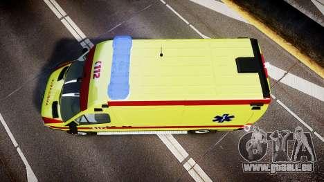 Mercedes-Benz Sprinter 311 cdi Belgian Ambulance pour GTA 4 est un droit