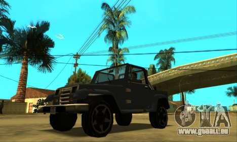 Mesa Final pour GTA San Andreas vue de dessous