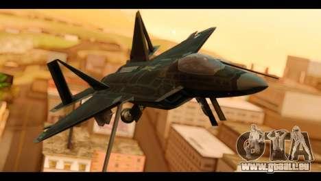 F-22 Raptor Flash für GTA San Andreas Rückansicht