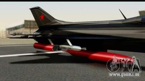 MIG-21F Fishbed B URSS Custom pour GTA San Andreas vue de droite