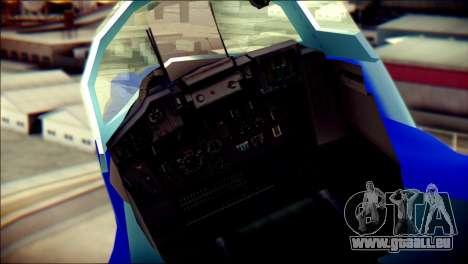 Mikoyan-Gurevich MIG-29K für GTA San Andreas Rückansicht
