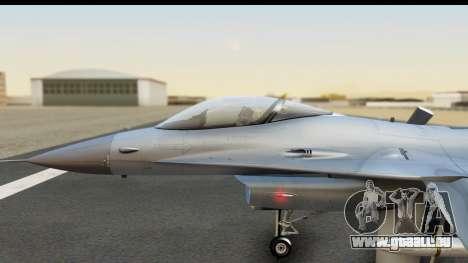 F-16C Polish Air Force Tigers für GTA San Andreas rechten Ansicht