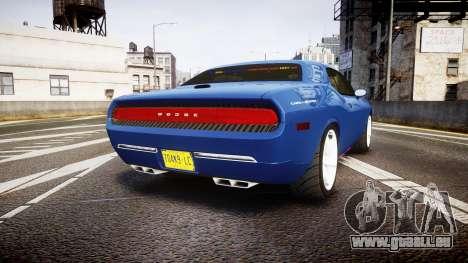 Dodge Challenger RT 2006 Pursuit Vehicle [ELS] für GTA 4 hinten links Ansicht