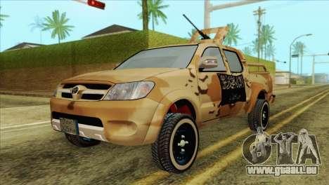 Toyota Hilux Siria Rebels pour GTA San Andreas
