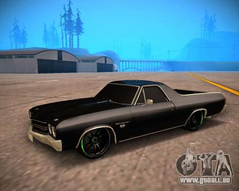 Chevrolet El Camino SS Green Hornet für GTA San Andreas