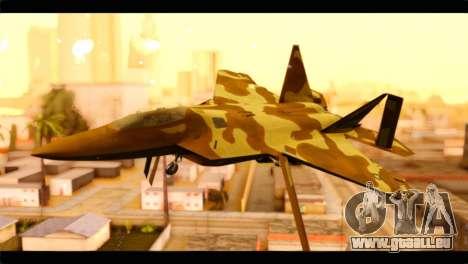 F-22 Raptor Desert Camouflage pour GTA San Andreas