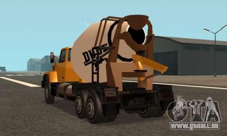 Cement Truck Fixed für GTA San Andreas
