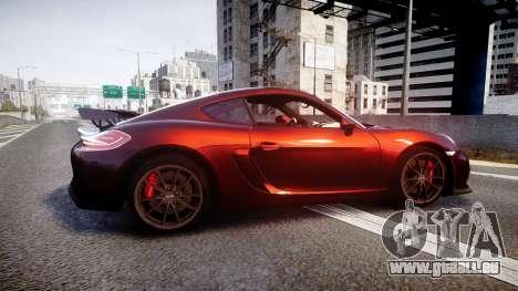 Porsche Cayman GT4 2015 für GTA 4 linke Ansicht