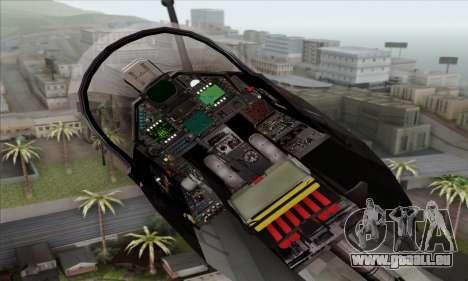Dassault Mirage 2000-N SAM für GTA San Andreas Rückansicht