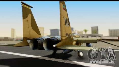 F-15C Eagle Desert Aggressor für GTA San Andreas Rückansicht