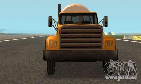 Cement Truck Fixed für GTA San Andreas Innenansicht