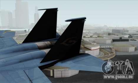 McDonnell Douglas F-15D Eagle GRDF pour GTA San Andreas sur la vue arrière gauche