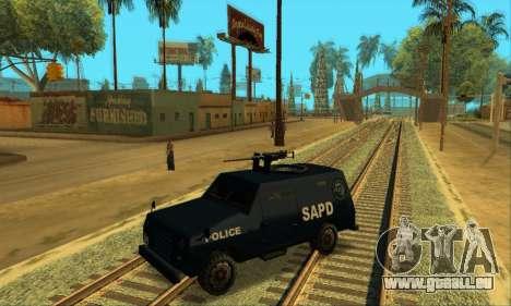 Beta FBI Truck für GTA San Andreas Seitenansicht