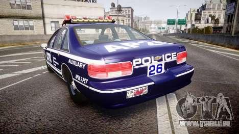 Chevrolet Caprice 1994 LCPD Auxiliary [ELS] pour GTA 4 Vue arrière de la gauche