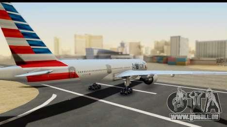 Boeing 777-200ER American Airlines pour GTA San Andreas laissé vue
