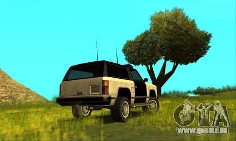 Beta Police Ranger für GTA San Andreas linke Ansicht