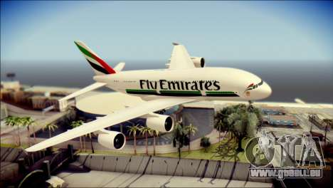 Airbus A380-800 Fly Emirates Airline für GTA San Andreas