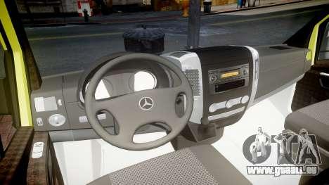 Mercedes-Benz Sprinter Ambulance [ELS] pour GTA 4 Vue arrière
