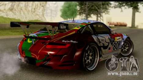 Porsche 911 GT3 RSR 2007 Flying Lizard pour GTA San Andreas laissé vue