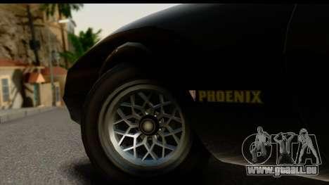 GTA 5 Imponte Phoenix IVF pour GTA San Andreas vue intérieure